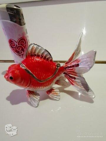 Parduodu nuostabaus grožio ,,Faberge,, dėžutę - žuvytę