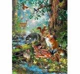 """Tapybos pagal skaičius rinkinys """"Forest Animals"""", 40x50 cm"""