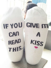 Kojinės If You Can Read This.. Give Me A Kiss