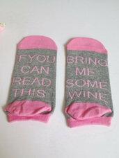 Šmaikščios kojinės If You can read this.. bring me some wine