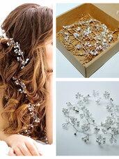 Puošnūs plaukų aksesuarai su perlais ir žėručiais
