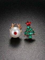 "Auskarai ""Deer and Tree"""