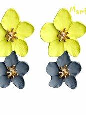 """Puošnū, elegantiški auskarai """"Geltonos gėlės"""""""