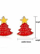 """Kalėdiniai auskarai """"Red Christmas Tree"""""""