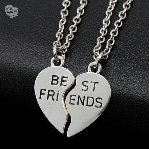 Kaklo papuošalas Best Friends, du pakabukai viename
