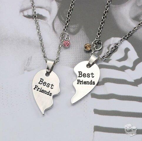 Kaklo papuošalas Best Friends, su akutėmis