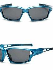UV 400 polerizuoti sport akiniai Blue frame
