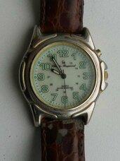 Apie 20 metų senumo paauksuotas laikrodukas, reikia naujos