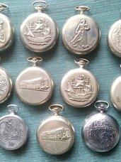 Kolekciniai kišeniniai laikrodžiai Molnija.