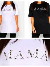 """Balti ir juodi """"MAMA"""" marškinėliai"""