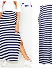 Ilgi, elegantiški, dryžuoti sijonai nėštukėms ir ne tik
