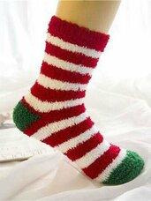 Minkštos šiltos kalėdinės kojinės