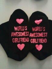 Šmaikščios kojinės World's Awesomest Girlfriend