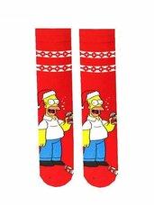 """Kojinės su kalėdiniais motyvais """"Homer Simpson"""""""