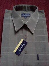 Marškiniai chaki spalvos su juostelėmis