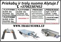 Vienaašės priekabos, dviašės priekabos, traliukas/platformos