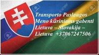 Transporto Paslaugos Meno kūriniams gabenti Lietuva – Slovakija