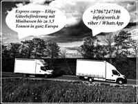 Express cargo – Eilige Güterbeförderung mit Minibussen bis zu 3