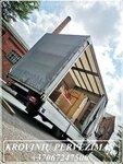 Kubilų transportavimas į Europa tentiniais mikroautobusais su