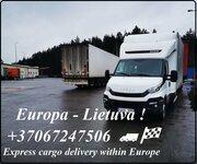 Pilnų bei dalinių krovinių gabenimas , LT - EU - LT ( Lietuva -
