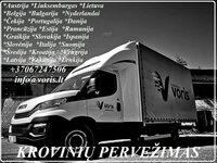 Lietuva - Belgija perkraustymai tentiniais mikroautobusais (