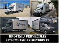 Krovinių pervežimai,Europiniai Perkraustymai,  Expres pervežimai