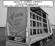 Daiktų pervežimas, expres pervežimai Lietuva - Europa - Lietuva