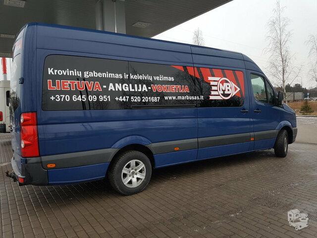 Kiekvieną dieną vykstame maršrutu Anglija-Vokietija-Olandija