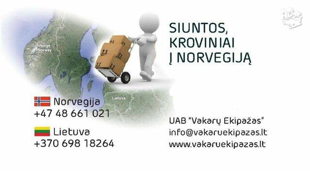 Siuntos, kroviniai į Norvegiją iš Vilniaus 869818264