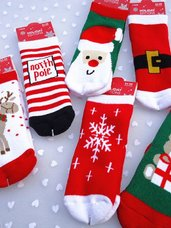 Kalėdinės vaikiškos kojinaitės, 0-1 metų vaikams