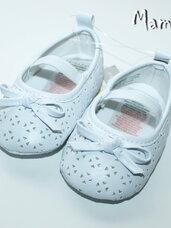 Balti, puošnūs batukai 6-9 mėn. mergaitėms