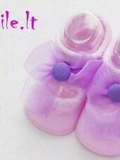 Puošnios, alyvinės kojinytės-tapukai kūdikiams