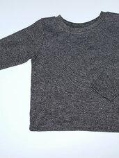 Pilki marškinėliai ilgomis rankovėmis berniukams