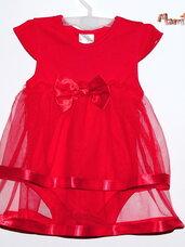 Puošnūs raudoni, tiulio smėlinukai-suknelės