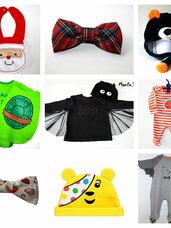 Kalėdiniai drabužėliai ir aksesuarai kūdikiams