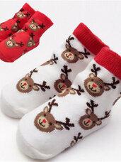 Kalėdinės kūdikio kojinaitės, 12-24 mėn.