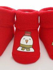 Vaikiškų kalėdinių kojinaičių rinkinys, 0-6 mėn kūdikiams
