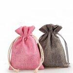 Storo lino dovanų maišelis