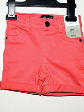 Persikų spalvos džinsiniai šortai berniukams ir mergaitėms