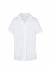 Balti marškiniai mergaitėms trumpomis rankovėmis