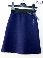 Puošnūs mėlyni sijonai mergaitėms