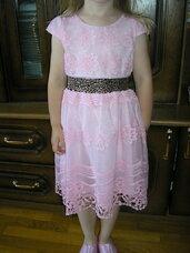 Nuostabi puošni rožinė suknelė