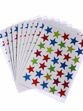 Blizgūs lipdukai Stars, 1 lapelis