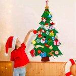 Kalėdinė eglutė iš veltinio, žaidimas + dekoracija