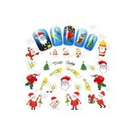 Kalėdinių nagų lipdukų rinkinys