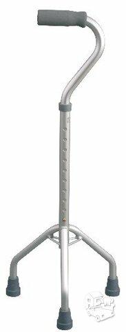 Metalinė reguliuojamo aukščio lazdelė su trimis atramomis