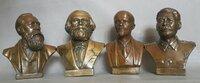 Seni BRONZINIAI 4 BIUSTAI F. ENgels, K. Marks, V.I.Lenin,J