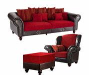 """Minkštų baldų komplektas  Sofa+Fotelis+Pufas """"King George"""""""