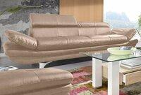 Minkšta sofa Nr163 kreminė naturali oda