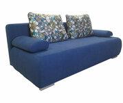 Minkšta sofa lova Nr166 mėlyna struktura